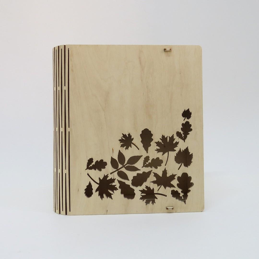 Шкатулка деревянная «Листья»